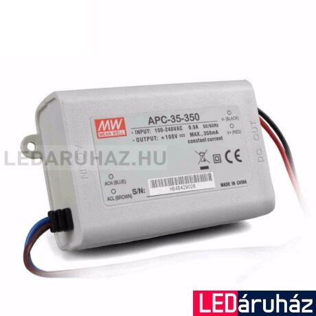 LED  áramgenerátor tápegység Mean Well APC-35-350 35W/28-100V/350mA