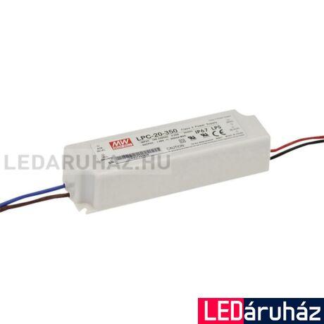 LED  áramgenerátor Tápegység Mean Well LPC-20-350 20W/3-48V/350mA