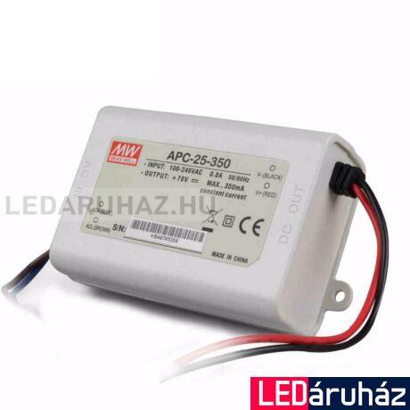 LED áramgenerátor tápegység Mean Well APC-25-350 24.5W/25-70V/350mA