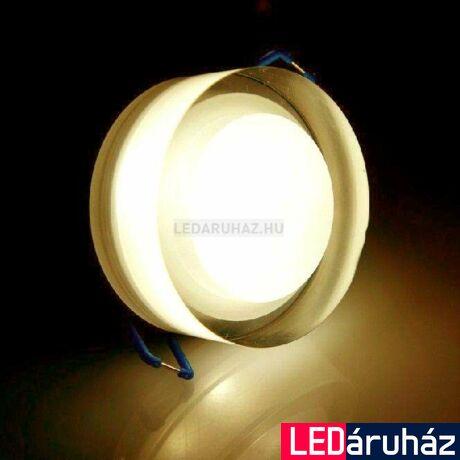 Ledium Crystallo süllyesztett LED lámpa, kör, 3W, 12V, 365 lm, 3000K melegfehér