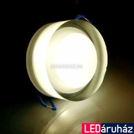 Ledium Crystallo süllyesztett LED lámpa, kör, 3W, 12V, 373 lm, 3500K melegfehér