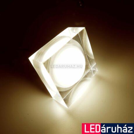 Ledium Crystallo süllyesztett LED lámpa, négyzet, 3W, 12V, 365 lm, 3000K melegfehér