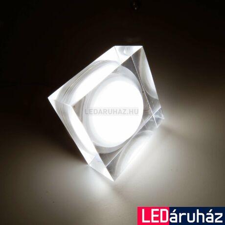 Ledium Crystallo süllyesztett LED lámpa, négyzet, 3W, 12V, 378 lm, 4000K természetes fehér