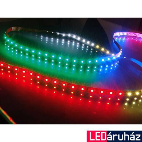 RGB SMD LED szalag 12V 5050 , beltéri 30 LED/m, 7,2W
