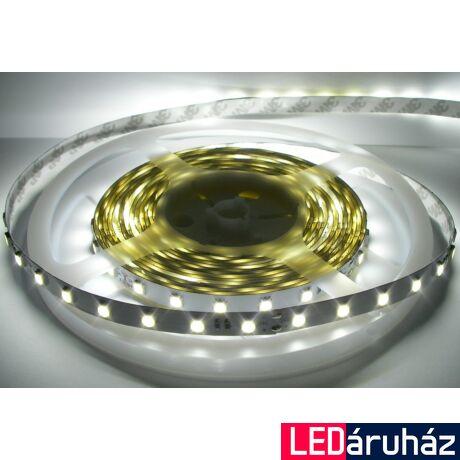 Hidegfehér SMD LED szalag 12V 5050 , beltéri 30 LED/m, 7,2W, 6000K