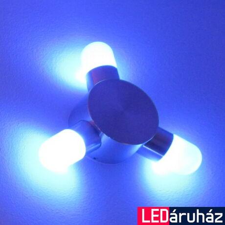 Falra szerelhető 3x1W LED dekorációs lámpa, kék