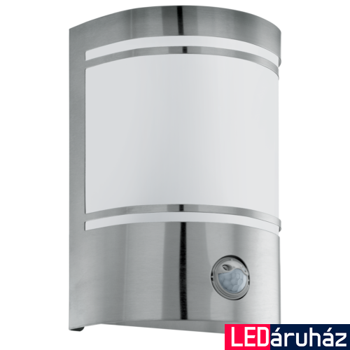 EGLO 30192 CERNO kültéri fali lámpa, mozgásérzékelővel, nemesacél + ajándék LED fényforrás