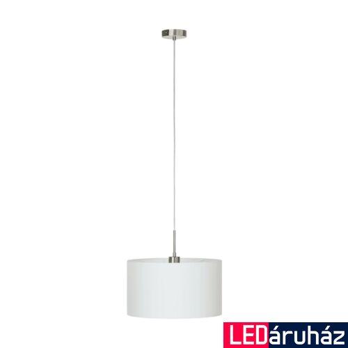 EGLO 31571 PASTERI 1 ágú függeszték, fehér, E27 foglalattal, IP20 + ajándék LED fényforrás