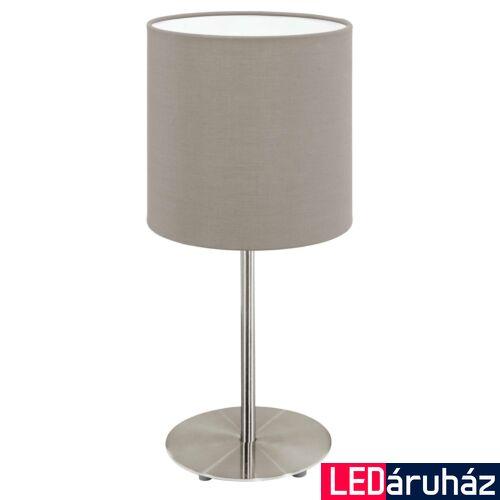 EGLO 31595 PASTERI asztali lámpa, kapcsolóval, szürke, E27 foglalattal, IP20 + ajándék LED fényforrás