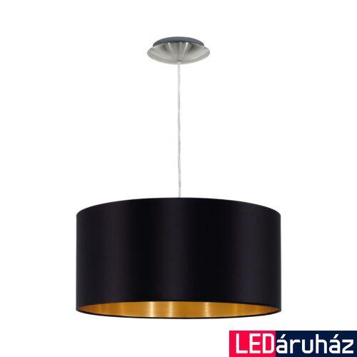EGLO 31599 MASERLO Textil függesztett lámpa, 38cm, fekete, E27 foglalattal + ajándék LED fényforrás