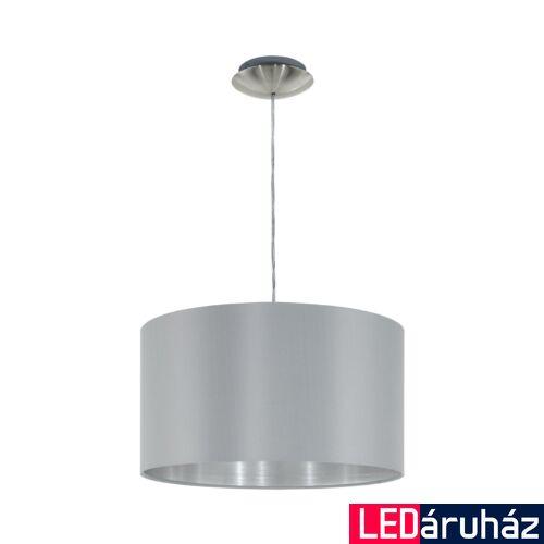 EGLO 31601 MASERLO 1 ágú függeszték, szürke, E27 foglalattal, IP20 + ajándék LED fényforrás