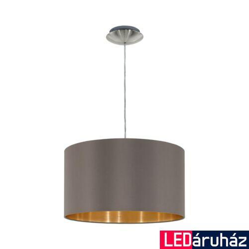 EGLO 31603 MASERLO Textil függesztett lámpa, 38cm, cappuccino, E27 foglalattal + ajándék LED fényforrás
