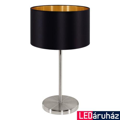EGLO 31627 MASERLO asztali lámpa, kapcsolóval, fekete, E27 foglalattal, IP20 + ajándék LED fényforrás