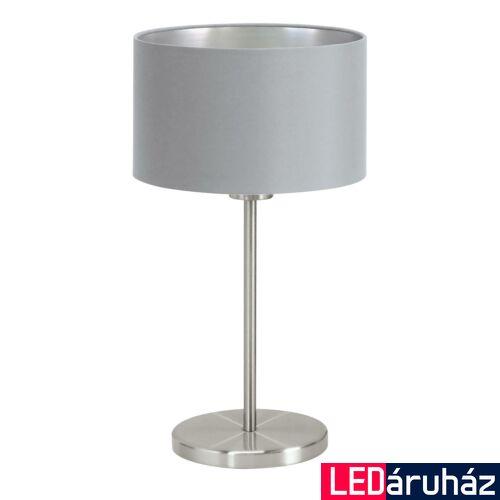 EGLO 31628 MASERLO asztali lámpa, kapcsolóval, szürke, E27 foglalattal, IP20 + ajándék LED fényforrás