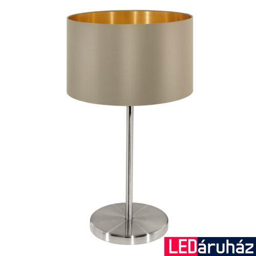 EGLO 31629 MASERLO asztali lámpa, kapcsolóval, szürke, E27 foglalattal, max. 1x60W, IP20 + ajándék LED fényforrás