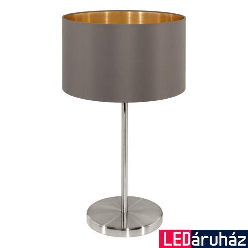 EGLO 31631 MASERLO asztali lámpa, kapcsolóval, barna, E27 foglalattal, IP20 + ajándék LED fényforrás