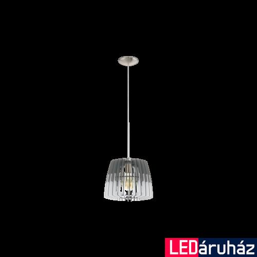 EGLO 32824 ARTANA Fa függesztett lámpa, 30cm, szürke/fehér, E27 foglalattal + ajándék LED fényforrás