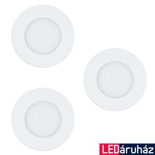 EGLO 32881 FUEVA-C Connect smart süllyesztett LED panel, 3 darabos szett, RGBW, 8,5cm átmérő, kör, fehér, 3x3W, 1080lm