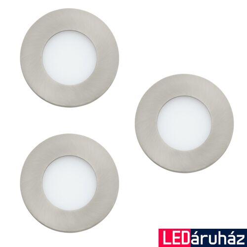 EGLO 32882 FUEVA-C beépíthető lámpa, nikkel, 3X3W, 1080 lm, 3000K melegfehér, fényerő szabályozható, beépített LED, IP20