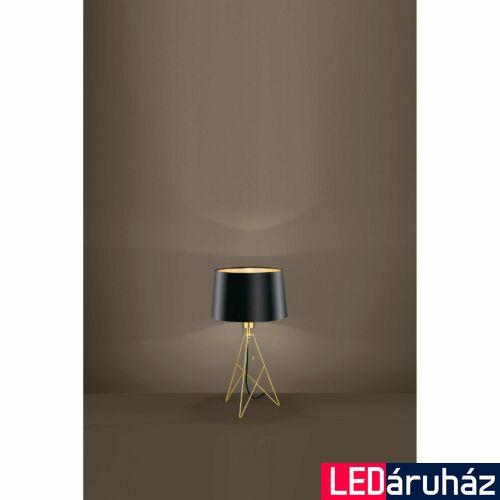 EGLO 39179 CAMPORALE asztali lámpa, 56cm magas, fekete/arany, 1 db. E27 foglalattal, 1x60W + ajándék LED fényforrás
