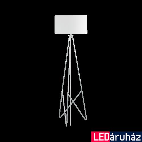 EGLO 39232 CAMPORALE állólámpa, 154cm magas, fehér/króm, 1 db. E27 foglalattal, 1x60W + ajándék LED fényforrás
