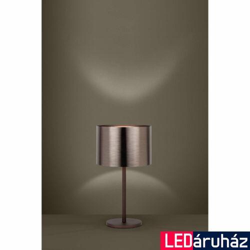 EGLO 39394 SAGANTO 1 asztali lámpa, 35cm átmérő, barna/réz, 1 db. E27 foglalattal, 1x60W + ajándék LED fényforrás