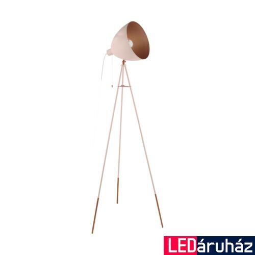 EGLO 49039 CHESTER-P Barackvirág színű állólámpa, E27 foglalattal, 135,5cm magas, 1x60W + ajándék LED fényforrás