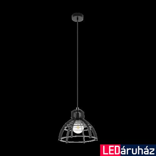 EGLO 49158 IPSWICH fekete, függeszték, E27 foglalattal, 32cm átmérő, 110cm, 1x60W
