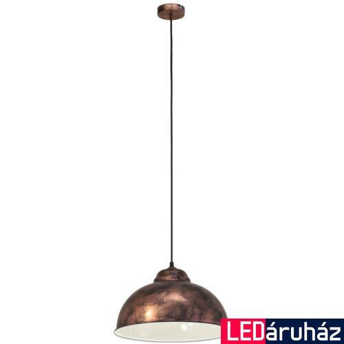EGLO 49248 TRURO 2 1 ágú függeszték, réz, E27 foglalattal, IP20 + ajándék LED fényforrás