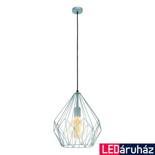 EGLO 49259 CARLTON Vintage függesztett lámpa, 31cm, menta, E27 foglalattal + ajándék LED fényforrás