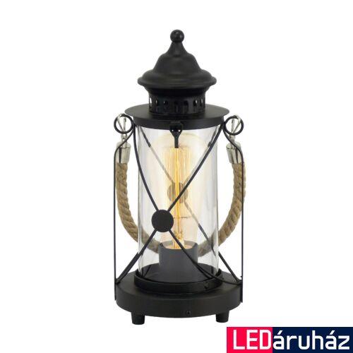 EGLO 49283 BRADFORD asztali lámpa, kapcsolóval, fekete, E27 foglalattal, max. 1x60W, IP20