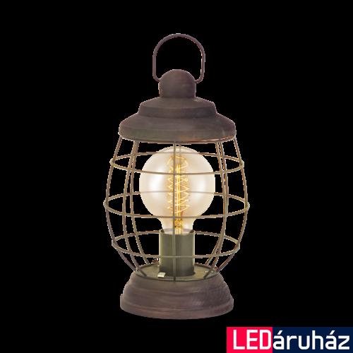 EGLO 49288 BAMPTON Vintage asztali lámpa, 17,5x32cm, barna-patina, E27 foglalattal