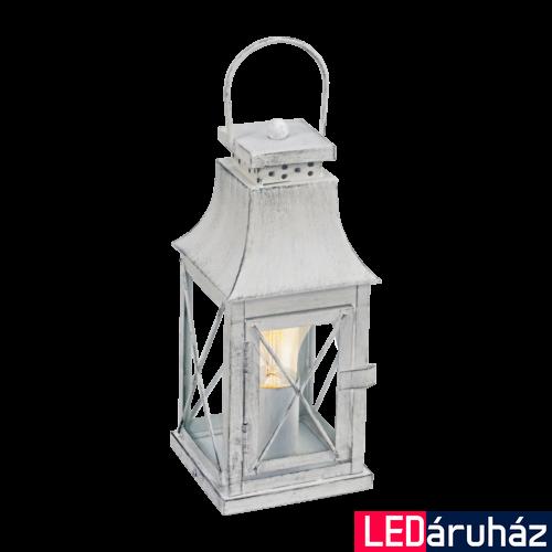 EGLO 49294 LISBURN Vintage asztali lámpa, 12x29,5cm, szürke-patina/üveg, E27 foglalattal