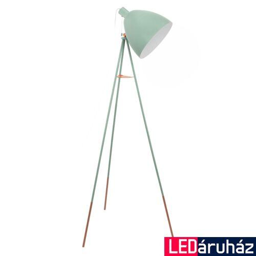 EGLO 49342 DUNDEE Vintage állólámpa, 135cm, menta, E27 foglalattal + ajándék LED fényforrás