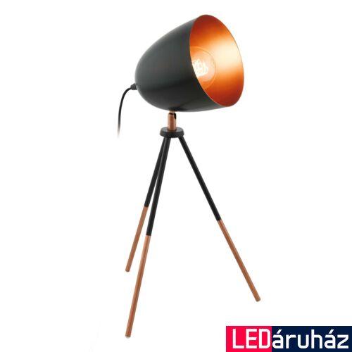EGLO 49385 CHESTER asztali lámpa, kapcsolóval, fekete, E27 foglalattal, max. 1x60W, IP20
