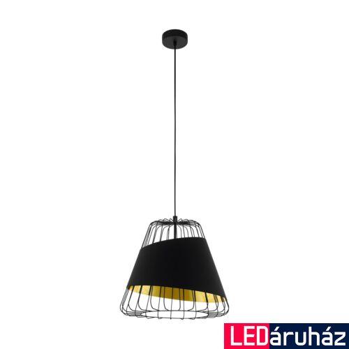 EGLO 49446 AUSTELL fekete, függesztett lámpa, E27 foglalattal, 36cm átmérő, max. 1x60W + ajándék LED fényforrás