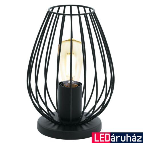 EGLO 49481 NEWTOWN asztali lámpa, kapcsolóval, fekete, E27 foglalattal, max. 1x60W, IP20