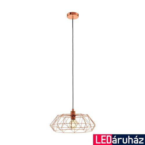 EGLO 49488 CARLTON 2 Vintage függesztett lámpa, 45,5cm, réz, E27 foglalattal