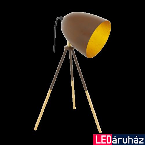 EGLO 49518 CHESTER 1 Vintage acél asztali lámpa, 44cm, rozsda/arany, E27 foglalattal, max. 1x60W