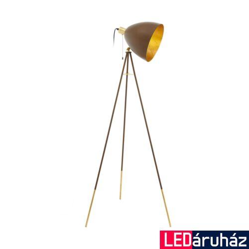 EGLO 49519 CHESTER 1 állólámpa, kapcsolóval, barna, E27 foglalattal, max. 1x60W, IP20