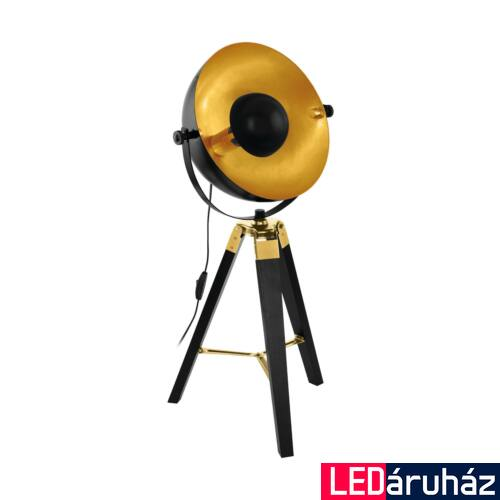 EGLO 49617 COVALEDA asztali lámpa, kapcsolóval, fekete, E27 foglalattal, max. 1x60W, IP20