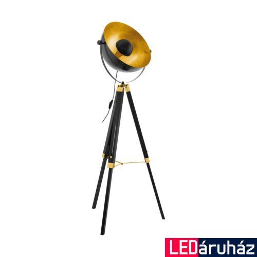 EGLO 49618 COVALEDA állólámpa, kapcsolóval, fekete, E27 foglalattal, max. 1x60W, IP20
