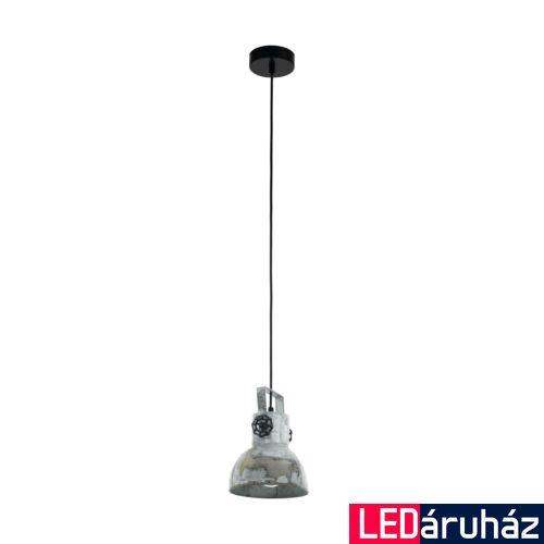 EGLO 49619 BARNSTAPLE Függesztett lámpa, E27 foglalattal, 17,5cm átmérő, cink/fekete, max. 1x40W + ajándék LED fényforrás
