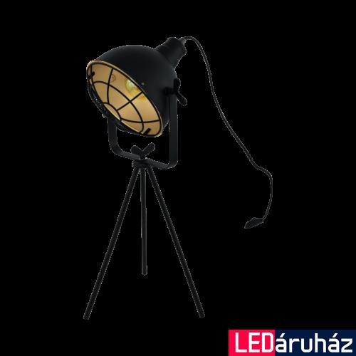 EGLO 49673 CANNINGTON Asztali lámpa, E27 foglalattal, 63cm magas, fekete/arany, max. 1x60W + ajándék LED fényforrás