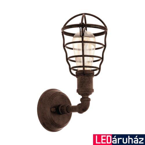 EGLO 49811 PORT SETON fali lámpa, barna, E27 foglalattal, max. 1x60W, IP20