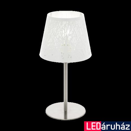 EGLO 49844 HAMBLETON Fehér asztali lámpa, E27 foglalattal, 38,5cm magas, max. 1x60W + ajándék LED fényforrás