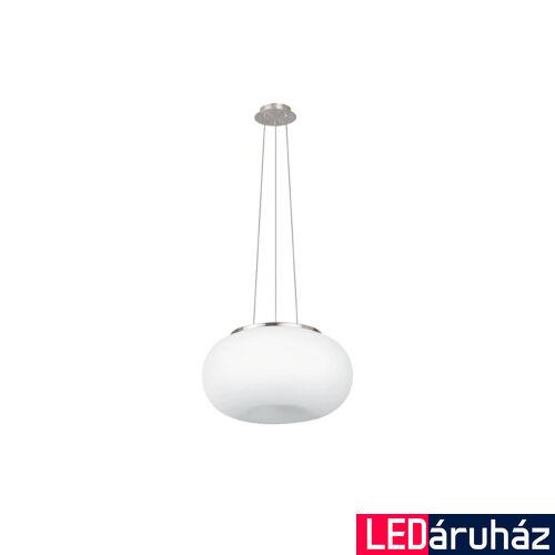 EGLO 86815 OPTICA Függesztett lámpa, opál üvegburával, 44,5cm átmérő, 2 db E27 foglalat + ajándék LED fényforrás