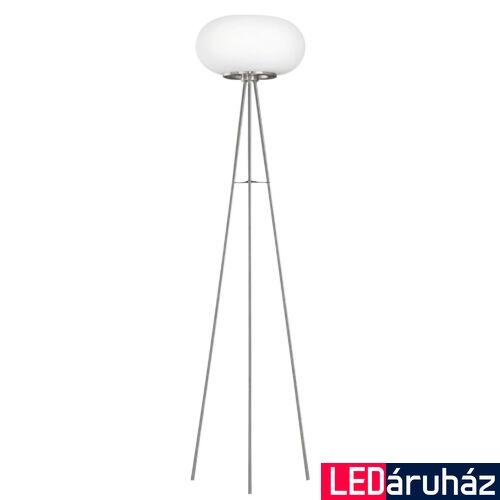 EGLO 86817 OPTICA Állólámpa, opál üvegburával, 35cm átmérő, 157cm magas, 2 db E27 foglalat + ajándék LED fényforrás