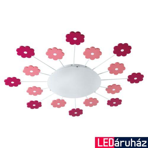EGLO 92147 VIKI 1 Rószaszín, virág mintás mennyezeti gyermeklámpa, 61,5cm, E27 foglalattal + ajándék LED fényforrás
