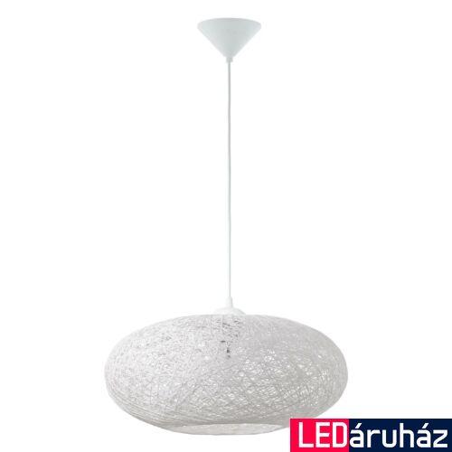 EGLO 93373 CAMPILO Fehér/műanyag/szövet függeszték, E27 foglalattal, 45cm átmérő, 110cm, 1x60W + ajándék LED fényforrás